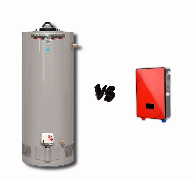 taque de agua valiente vs calentador
